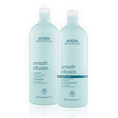 Aveda Smooth Infusion Shampoo and Conditioner 33.8oz Smooths and Softens Hair to Reduce Frizz