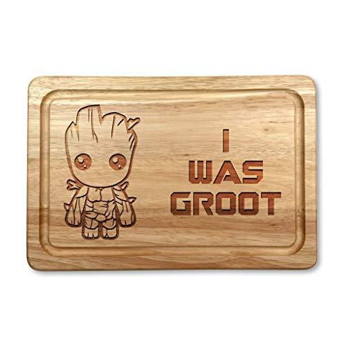 I was Groot Hardwood Chopping Cutting Board Gift