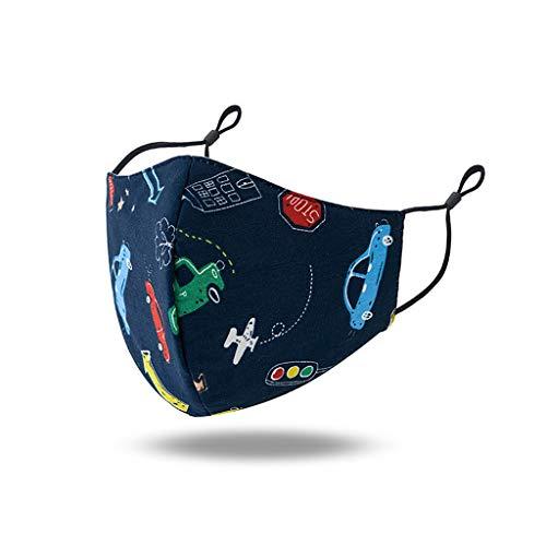 Xiangdan Kinder Mundmaske 3D Baumwolle Waschbar Mundschutz mit Motiv Cartoon Schön Mehrweg Atmungsaktiv Stoff Bandana Halstuch Tuch, Mund und Nasenschutz (G1)