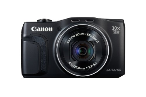 Canon PowerShot SX700 Digitalkamera (16,1 MP, 30-Fach Opt. Zoom, 7,5cm (3 Zoll) LCD-Display, NFC, Full HD) schwarz