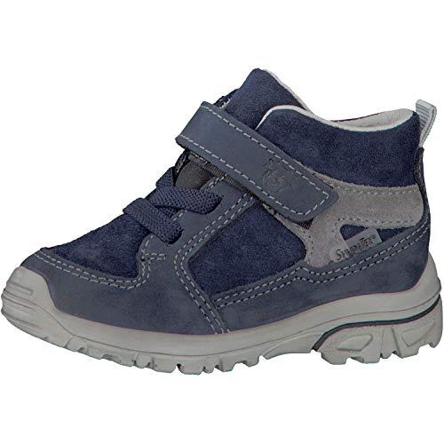 RICOSTA Unisex - Kinder Stiefel Hike 3625300,Mädchen/Jungen Boots,Lederschuh,Schnürstiefel,Lauflernschuh,Weite Mittel,Nautic,EU 23