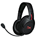 HyperX Cloud Flight - Wireless Gaming Headset, Battery Lasts Up to 30 hours of Use, Detachable Noise Cancelling Microphone, Red LED Light, Bass, Comfortable Memory Foam, PS4, PC, PS4 Pro (Renewed)