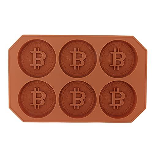 Molde De Pastel Bitcoin, Molde De Silicona Para Horno Microondas, Adecuado Para Hacer Pasteles, Chocolates, Cubitos De Hielo