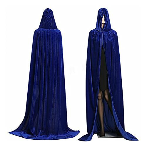 YUHUA-SHOP1983 Gótico con Capucha Capa Elf Adulto Bruja Largo Carnaval de Halloween Capas Capas de Mujeres Partido Vampiros Hombres Robe Bata de Manto (Color : B)