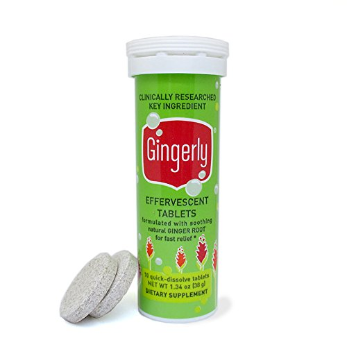 Gingerly Tablets - Made with Ginger Root for Fast Relief of Upset Stomach & Nausea