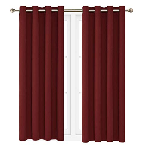"""Victoria Classics Neil 90"""" Blackout Curtains Room Darkening Window Panel That are Thermal Insulated with a Grommet -Energy Saver (One Panel 90"""" x 52"""") (Burgundy)"""