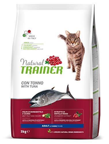 Trainer Natural - Cibo per gatti adulti, Alimento Secco, con Tonno, 3 kg