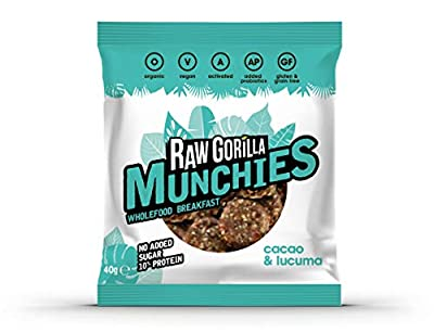 Pack of 4 Raw Gorilla Cacao & Lucuma Munchies (4) by Raw Gorila