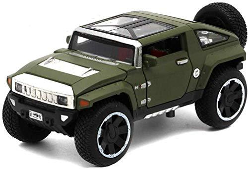 TZSMCMX Modelo de Coche Hummer HX Concept-o-Terreno 1,32 analógico a presión de aleaciones de Juguete Modelo de Coche 1.5x6x5CM (Color : Verde)