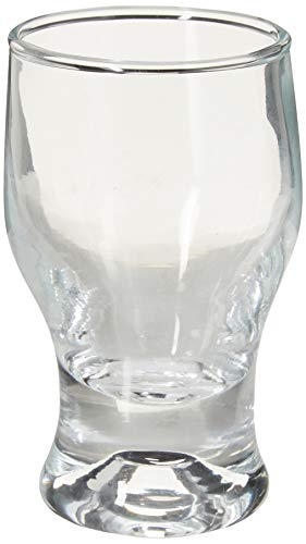 Circleware Tipsy Shot, Set of 6 Heavy Base Glassware Drinking Glass Cups for Whiskey, Vodka, Brandy, Bourbon, and Best Selling Liquor Beverage Bar Dining Decor Gifts, 2 oz, Clear