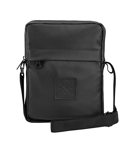 Pusher Bag - Brusttasche, Umhängetasche, Schultertasche, Brustbeutel (Manufaktur13) (Black Out Leather)