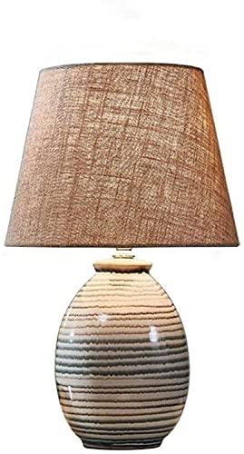 YMLSD Lámparas de Mesa, Luz Luces de Escritorio Moderno Minimalista Cerámica Botón Regulable Sala de Bodas Sala de Estar Dormitorio Mesita de Noche Luz Lectura Estudio de Trabajo