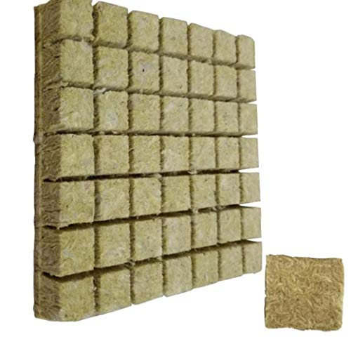 MICHAELA BLAKE Wachsen Würfel Starter Sheets Rockwool, hydroponischen Anbau Soilless Anbau Compress Basis für Rockwool Starter Stecker 50pcs