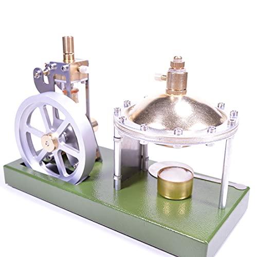EAYOK Modelo de máquina de vapor, de metal, con motor retro, con caldera, juguete educativo para niños y entusiastas de la tecnología.