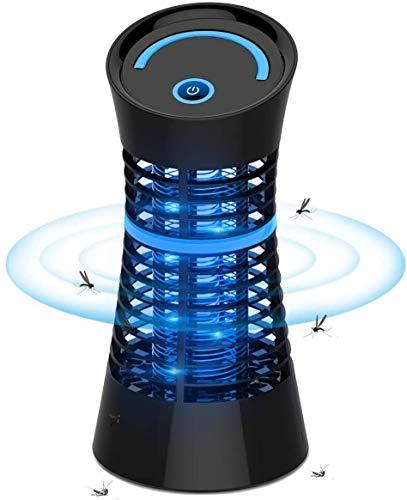 Osaloe Lampe Anti Moustiques, UV LED Tueur de Moustiques Portable Destructeur d'Insectes, Tue Mouches Éléctrique avec Prise pour Maison, Bureau, Dortoir, Intérieur (Noir)