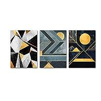 壁の芸術、幾何学的な現代美術のキャンバスのポスター抽象的な形の壁画プリントミニマリストのリビングルームの装飾フレームなし