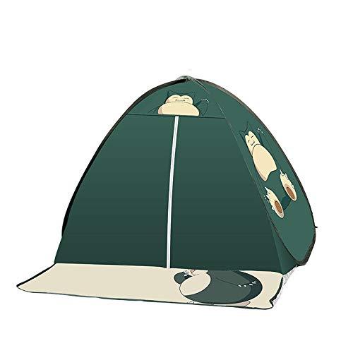 GLYYR tienda plegable de gran tamaño, 3-4 hombres, impermeable camping ligero toldo y estable, fácil de instalar, para senderismo, viajes, escalada, pesca, viajes, bebé, playa, familia, niños, azul