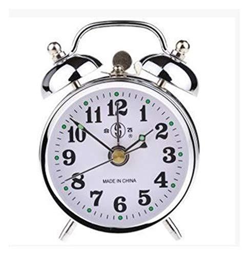 yywl Reloj Despertador Reloj Despertador decoración for el hogar ticture Retro Vintage Twin Bell Escritorio de Noche Reloj Despertador Vintage Reloj Despertador (Color : R)