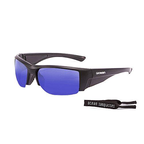 Ocean Sunglasses - Guadalupe - lunettes de soleil polarisées - Monture : Noir Mat - Verres : Revo Bleu (3501.0)