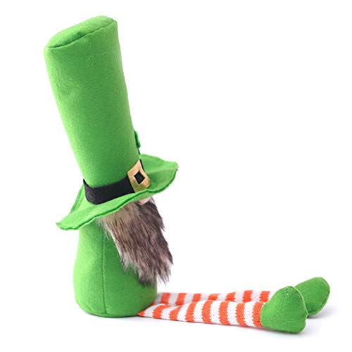 UEXCN Patricks Day Tomte Plüschpuppe, irischer Kobold, skandinavischer Zwerg, Nisse Klee, Dekoration für Zuhause
