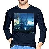 Bazzi Men's Novelty Long Sleeve T-Shirt Navy XL