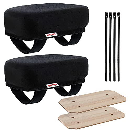Krix88 Arm Rest Pad for Office and Gaming Chair – Elbows and Forearms Pressure Relief Ergonomic Cushion – Soft and Comfortable for Long Sitting (Set of 2)