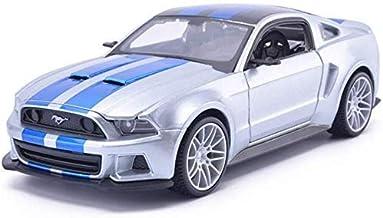 WJSXJJ 1:24 Modelo de Coche Ford Mustang Boss Simulación de aleación de Coches de Juguete Colección de Camiones Infantiles Decoración 20x8.7x6CM Modelo de Coche