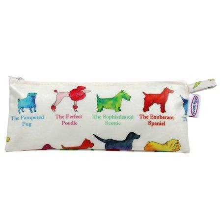 Milly Green Motif chien Trousse – Motif coloré de différentes Races