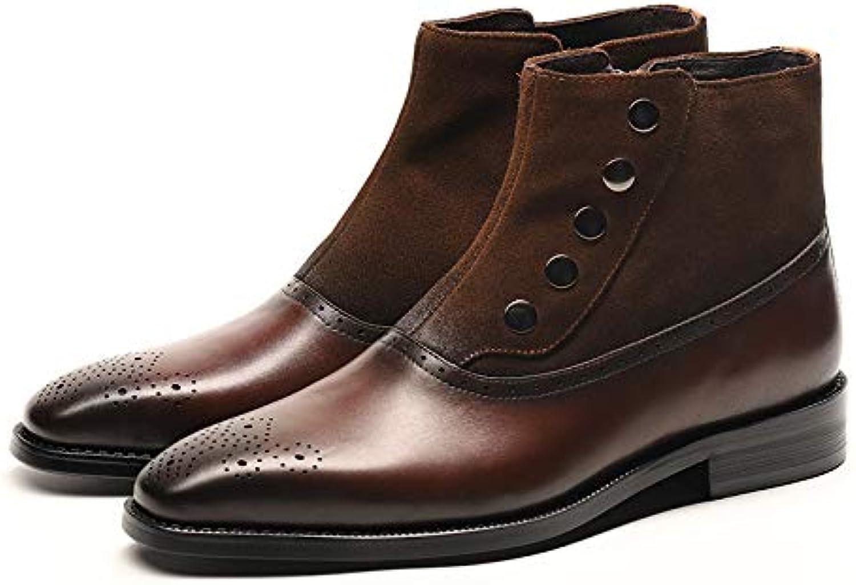 LOVDRAM Stövlar Män's läder Mode Point läder läder läder stövlar Business Dress Martin stövlar herrar skor  välkommen att beställa