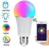 WINSUNY Bombilla LED Inteligente, E26 RGBW WiFi Smart Bulb 7W 600lm, WiFi...