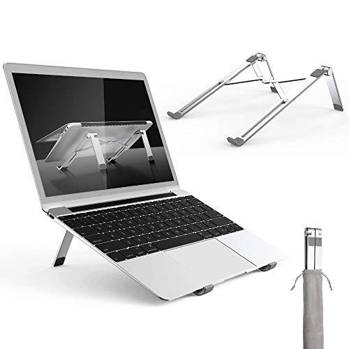 PASLWSSY Soporte para portátil para Flujo de Aire, Soporte portátil portátil, Escritorio Ajustable de Aluminio Compacto Compacto de computadora portátil, Soporte enfriamiento para 12-17 Pulgadas