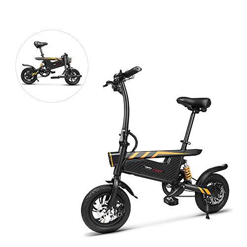 Bicicleta eléctrica plegable, bicicleta eléctrica de 16 pulgadas con pedales - Ligero,...