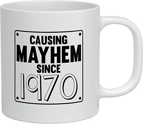 La Taza Ha Causado Confusión Desde 1970. La Taza Blanca De Regalo De Cumpleaños De 11 Oz (301-400 Ml)