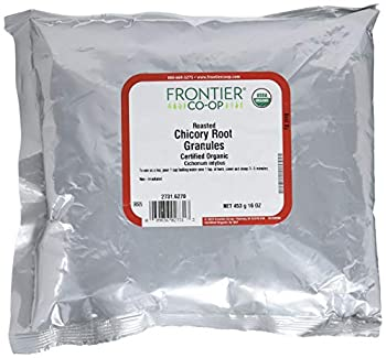 Frontier Natural Products Organic Roasted Chicory Root Granules 16 Ounce  Pack of 2