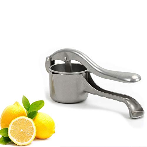 Manuelle Entsafter Zitronenpresse Zitruspresse Aluminium Orangenpresse Haushaltshandbuch tragbare Fruchtpresse Multifunktions,Silver