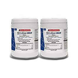 Micro-Scientific Opti-Cide Max Disinfecting Wipes (2 Pack) – 320 Wipes – Hospital Grade EPA Registered Disinfectant…