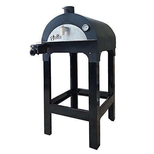 Pieffe Forni&Bruciatori Forno a Gas da Giardino per pizze focacce FORNETTO 50x50cm GPL o METANO (Fornetto+Supporto+Ruote)