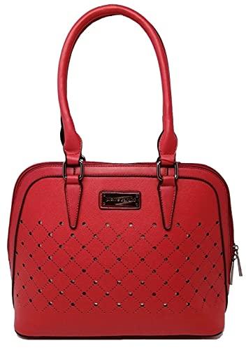 Pierre Cardin Bolso grande, bolso de mujer, bolso de hombro, multifunción, elegante, bolso de mujer, bolso de hombro, bolso de hombro Rojo Size: M