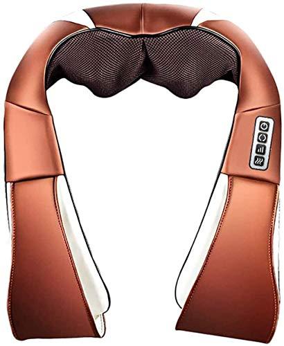 LG Snow Massager del cuello con la función de calor 3D giratoria Shiatsu cuerpo masajeador masajeador eléctrico de batería Massager del cuello del hombro Masaje de espalda Almohada for el coche de Min