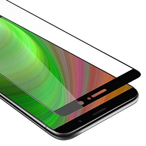Cadorabo Vollbild Panzerglasfolie für Huawei Mate 9 - Schutzfolie in TRANSPARENT mit SCHWARZ - Gehärtet (Tempered) Bildschirmschutz Glas in 9H Festigkeit mit 3D Touch Kompatibilität