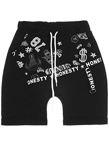 BEZLIT Kinder Jungen Baggy Kurze Hose Capri Shorts Made in Italien 22652 Schwarz Größe 116