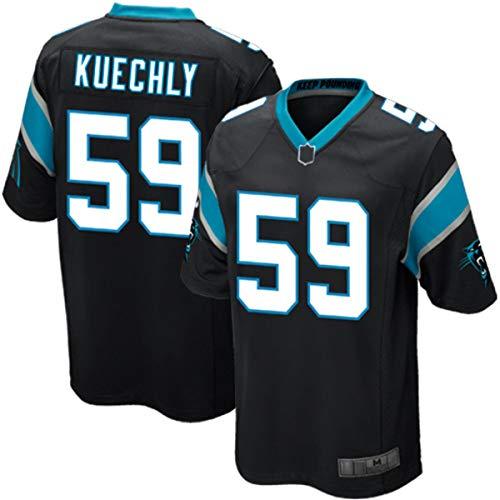 OYEO Camisetas de entrenamiento de fútbol americano personalizadas Luke Carolina #59 azul marino, Panthers Kuechly Team Game Jersey de secado rápido ropa deportiva para hombres