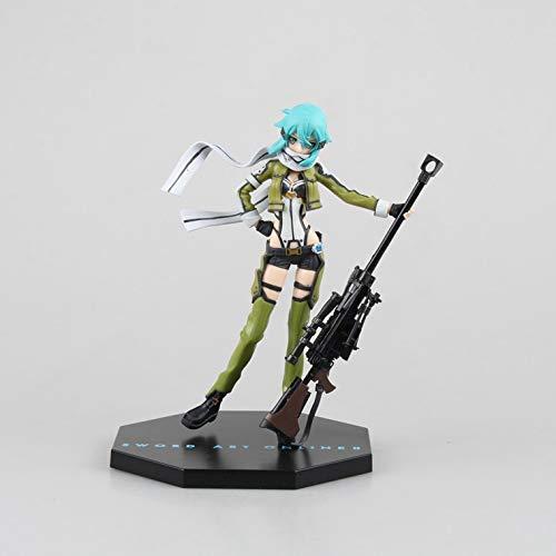 XFLYX Figura de Anime para la Espada Art Online Sao Asada Shino, 19 cm Acción PVC Figurine Modelo Muñecas Anime Regalos Juguetes Modelo Kits Mejor cumpleaños Navidad Halloween Presente d