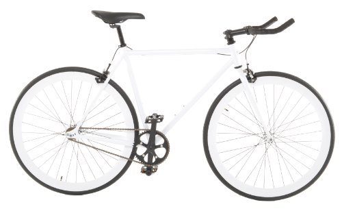 Vilano Edge Fixed Gear Single Speed bicicleta, Small, White