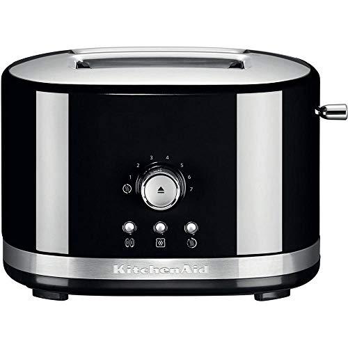 KitchenAid 5KMT2116BOB 2-Slot Manual Control Toaster - Black