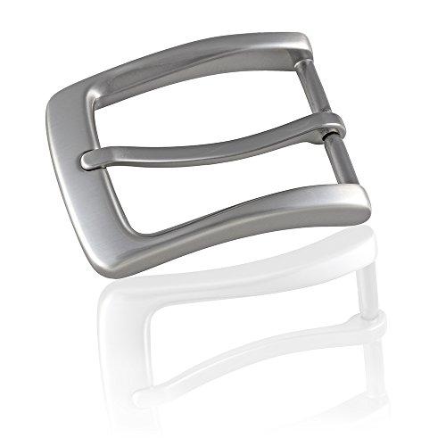 Gürtelschnalle Buckle 35mm Metall Silber Anthrazit - Buckle Maxime - Dornschliesse Für Gürtel Mit 3,5cm Breite - Silberfarben Anthrazit