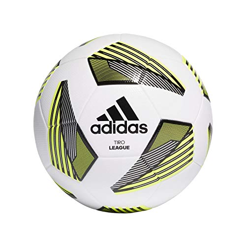 Adidas Unisex – Tiro Lge Tsbe Pallone da calcio, bianco, nero, argento, TM, 5