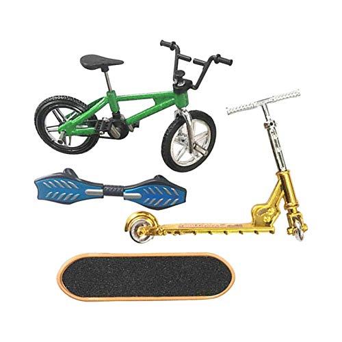 FITYLE 4 Piezas Juguetes Finger Fingerboard Skateboard Bicicleta Scooter pequeño Swing Board, 1: 18 báscula - B