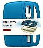 Ernesto Fiambrera de 3 secciones con cuchillo y tenedor, apto para microondas y congelador