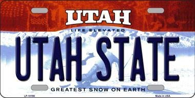 Utah State Utah Background Metal Novelty License Plate (With Sticky Notes)